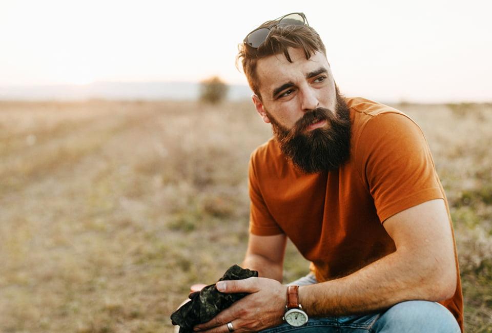 Mann in der Natur