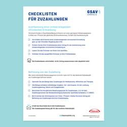 Checkliste Zuzahlungen